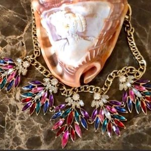 Vintage Style Colorful Statement Necklace